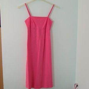 Pink linen American Eagle wiggle dress